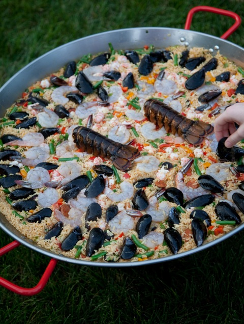 Seafood paella for a crowd puddingstone post arranging seafood paella forumfinder Images