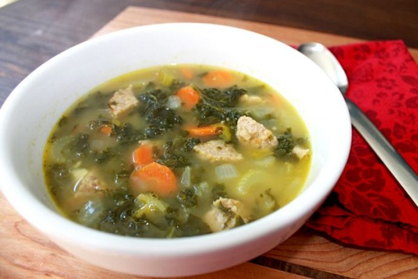 turkey meatball kale soup