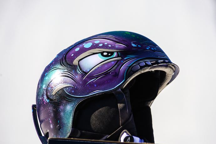 helmet painted by Scribe x games