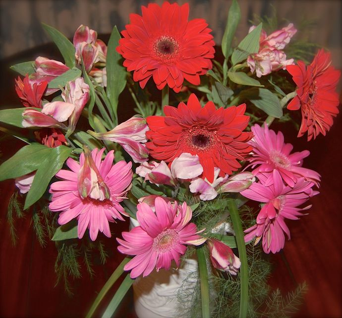 gerbera-bouquet-red-pink
