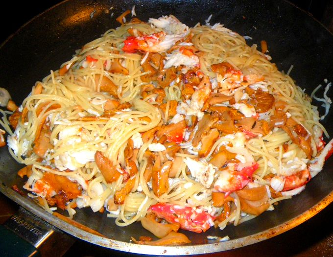 king-crab-chanterelle-pasta-recipe