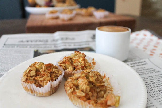 healthy apple-Oatmeal Muffin