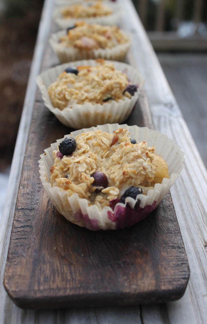 healthy blueberry-Oatmeal-Muffin