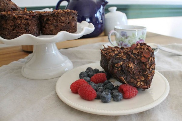 healthy chocolate-Oatmeal-Muffin