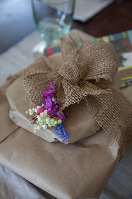 kraft-paper-package-with-flowers