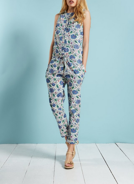 9887ba68a4ec Channeling Laura Ashley with Modern Floral Jumpsuits