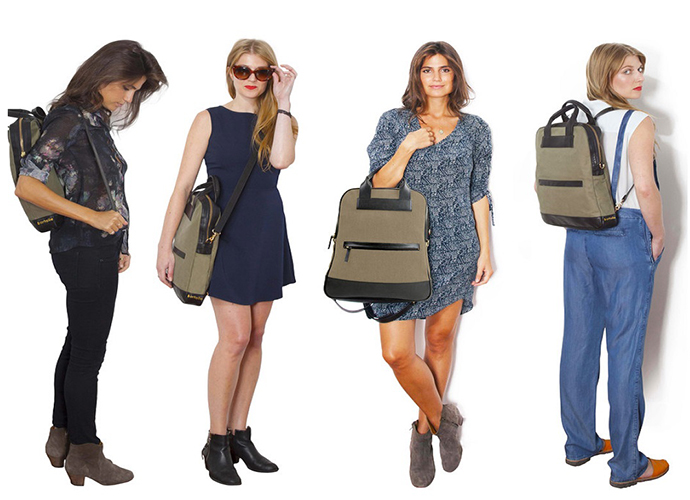 The Bartaile Journey Bag converts from backpack to messenger to tote