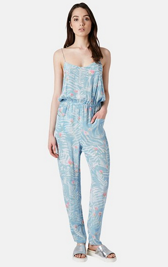 Boutique-Fern-Print-Silk-Jumpsuit-Topsop