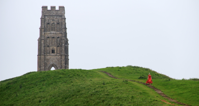 Glastonbury Tor tower ruins