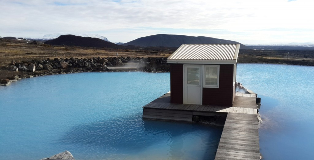 a cabin at Myvatn Nature Baths hot springs