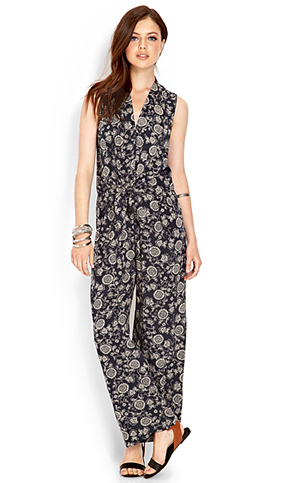 Knotted-Floral-Jumpsuit-Forever-21