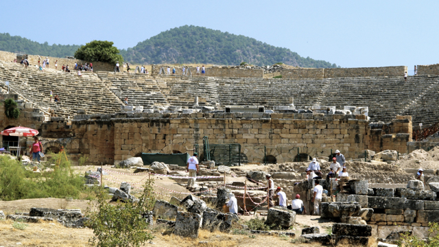 Archeological work in progress at ancient Hierapolis