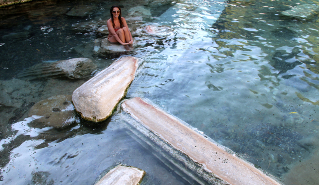 Among Fallen Ruins in Cleopatra's Pool