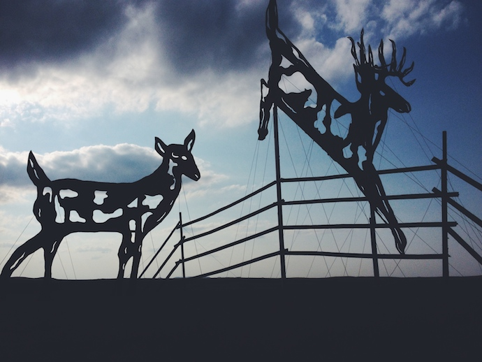 enchanted highway deer