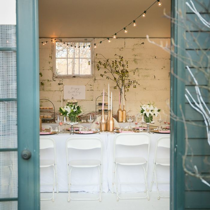 elegant party in a garden shed in newport ri
