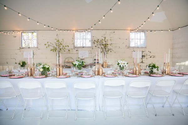 elegant dinner party in a garedn shed in newport ri