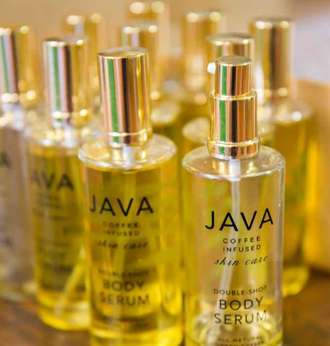 java skincare body serum