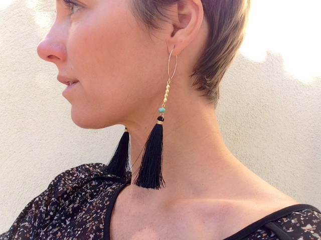 essentia-black-tassel-earrings