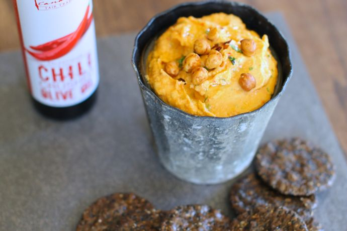Sweet and Spicy Butternut Hummus - 3