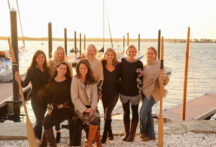 Friendsgiving party in Newport RI at IYRS
