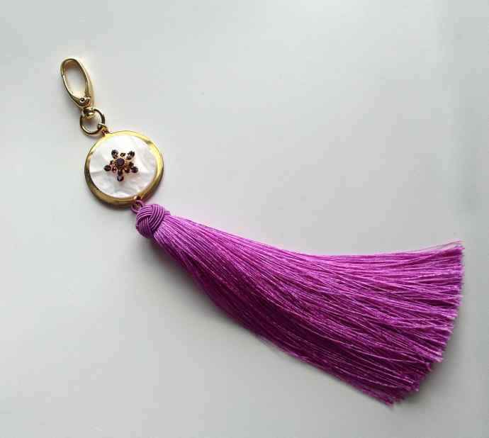 purple tassel accessory