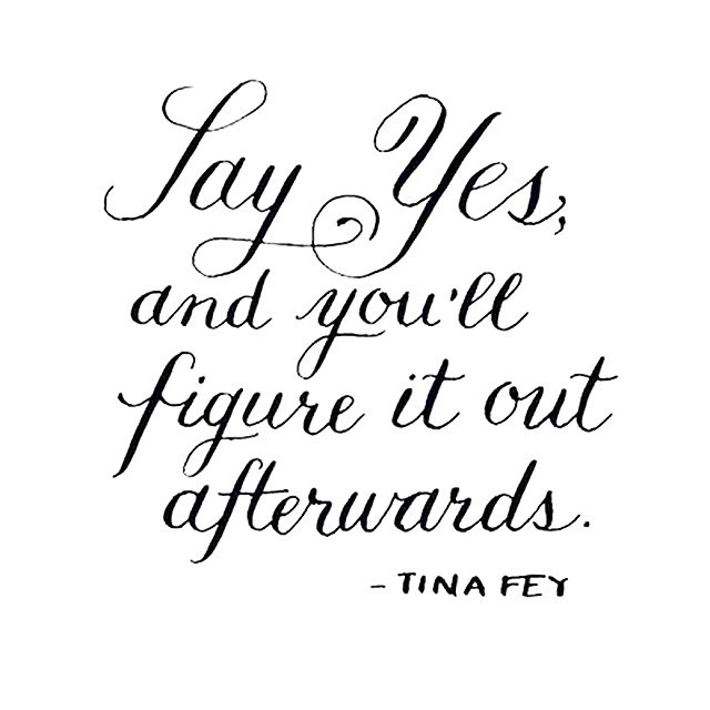 say yes quote tina fey