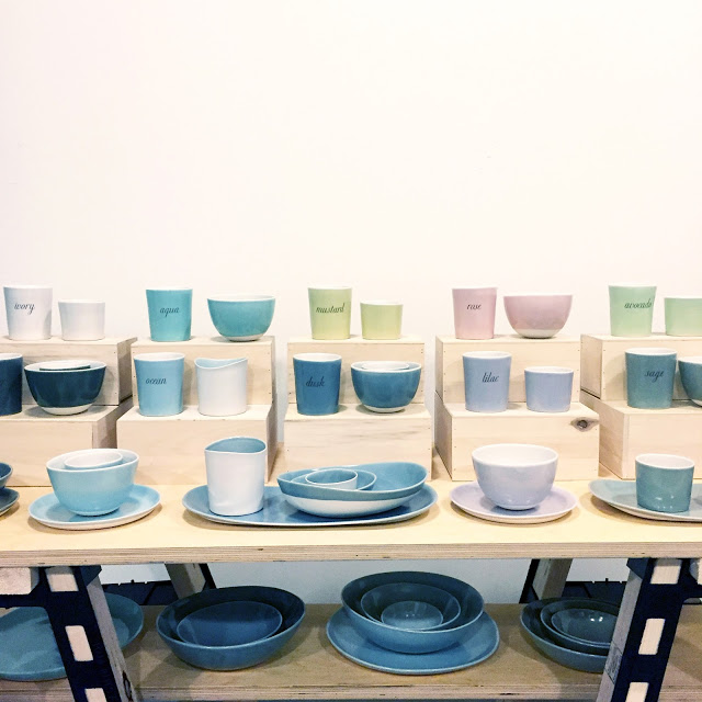 gleena-ceramics-display of plates and cups