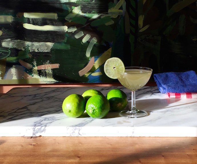 classic daiquiri cocktail sour with honey