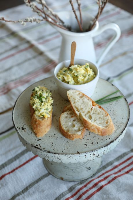 Tarragon, chives and parsley dress up this egg salad