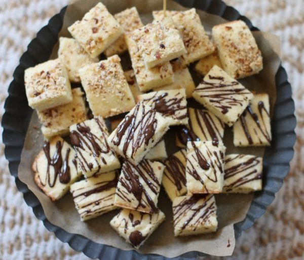 Easy, Chewy Toasted Almond Squares