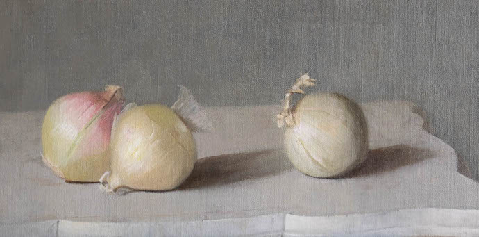 Cynthia Zinser onions oil painting