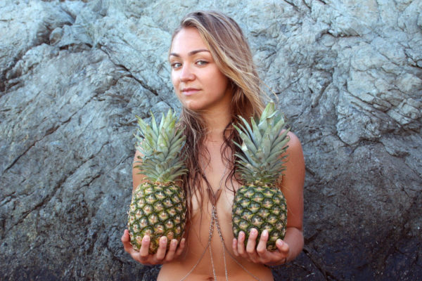 pineapples beautiful girl