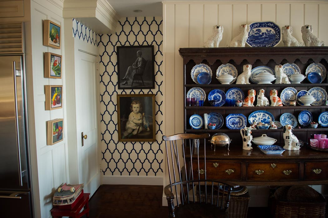 house-tour-portsmouth-ri-butler-cottage with antique cupboard in kicthen